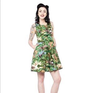 Pinup Girl Retrolicious Jurassic Dress Size Large